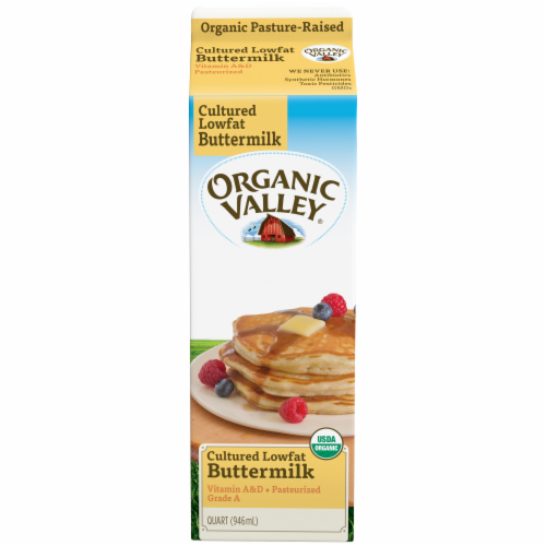 Organic Valley Cultured Lowfat Buttermilk Perspective: back
