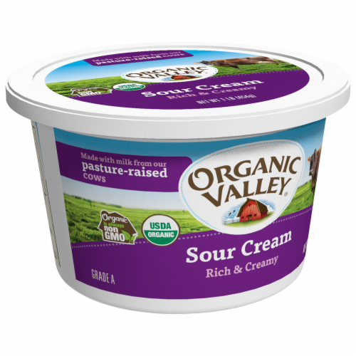 Organic Valley Rich & Creamy Sour Cream Perspective: back