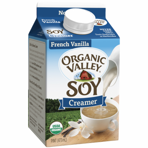 Organic Valley French Vanilla Soy Creamer Perspective: back