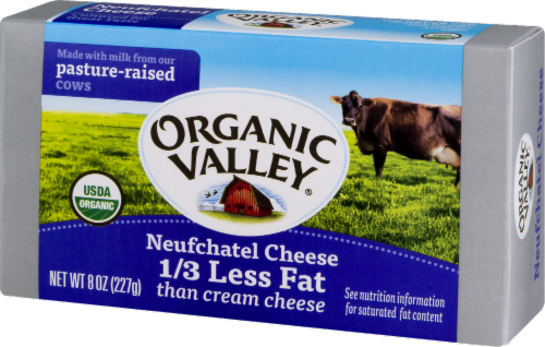 Organic Valley Neufchatel Cheese Spread Perspective: back
