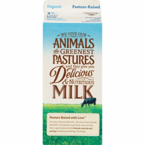 Organic Valley 1% Lowfat Milk Perspective: back