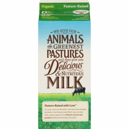 Organic Valley Fat Free Milk Perspective: back