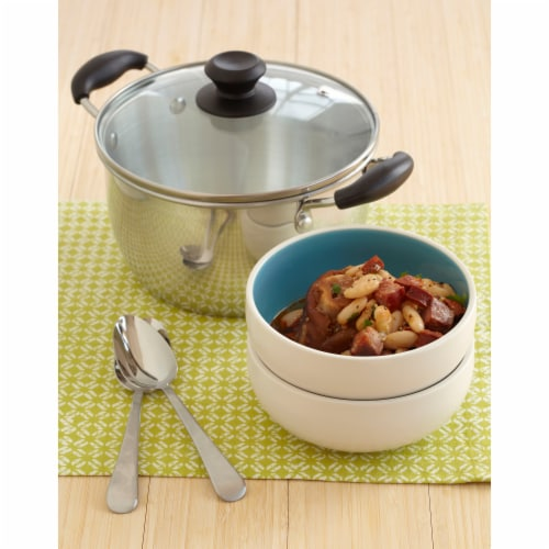 IMUSA Aluminum Sauce Pot with Lid - Silver Perspective: back