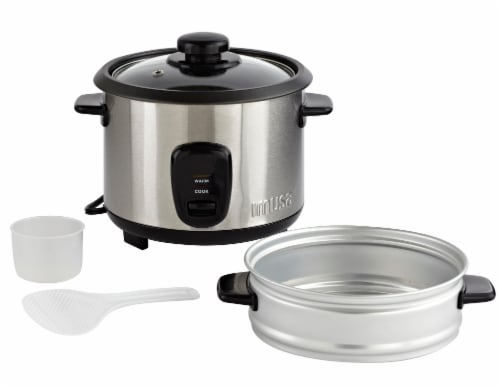 IMUSA Rice Cooker with Steam Tray Perspective: back