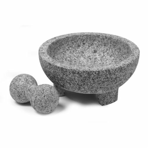 IMUSA Granite Molcajete - 2 Piece - Gray Perspective: back