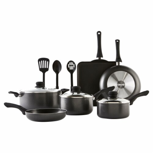 IMUSA Nonstick Cookware Set - Charcoal Perspective: back