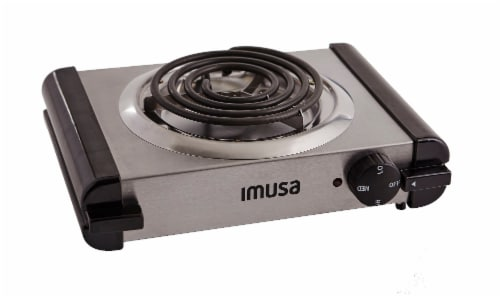 IMUSA Electric 1000-Watt Stainless Steel Single Burner Perspective: back