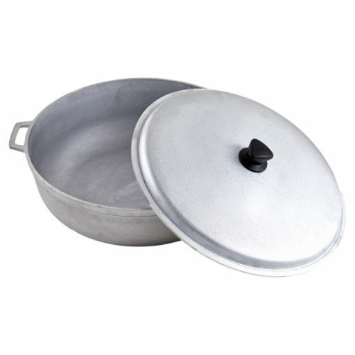 IMUSA Cast Iron Aluminum Caldero - Silver Perspective: back