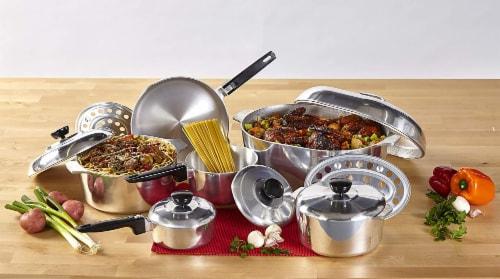 IMUSA Cast Aluminum Cajun Cookware Set - Silver Perspective: back