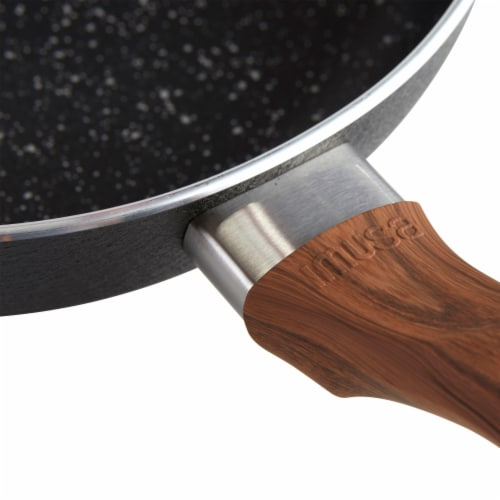 IMUSA Stone Frying Pan - Black Perspective: back