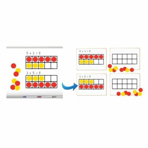 Dowling Magnets Magnet Math Ten Frames Magnet Set Perspective: back