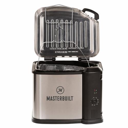 Masterbuilt Butterball XL 3-in-1 Electric Deep Fryer Boiler Steamer Cooker, 10L Perspective: back