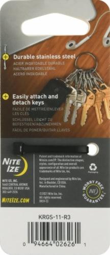 Nite Ize S-Biner KeyRing Steel - Silver Perspective: back