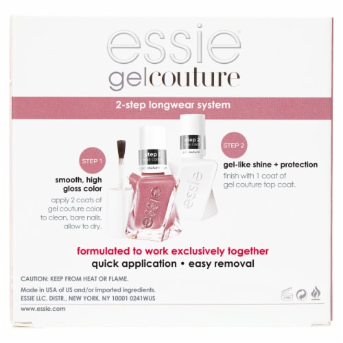 Essie Gel Couture 2-Step Longwear System 70 Take Me to Thread Nail Polish Kit Perspective: back