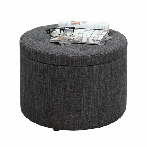 Designs4Comfort Round Shoe Ottoman Perspective: back