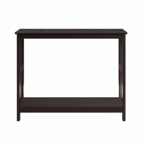 Convenience Concepts Mission Console Table in Espresso Wood Finish Perspective: back