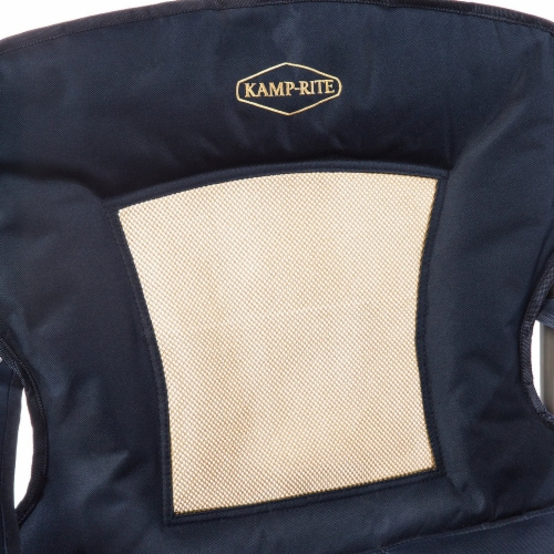 Kamp Rite KAMPCC035 Padded Folding Outdoor Camping Lounge Chair with Mesh Back Perspective: back
