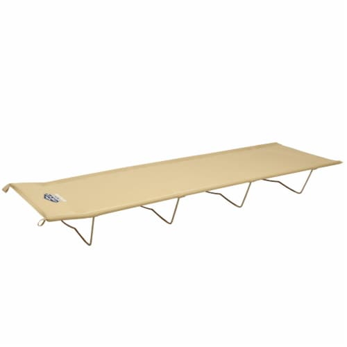 Kamp-Rite Compact Lightweight Economy Cot, Use for Portable Lounge or Bed, Tan Perspective: back