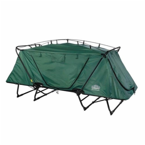 Kamp-Rite Oversize Portable Versatile Cot, Chair, and Tent, Easy Setup, Green Perspective: back