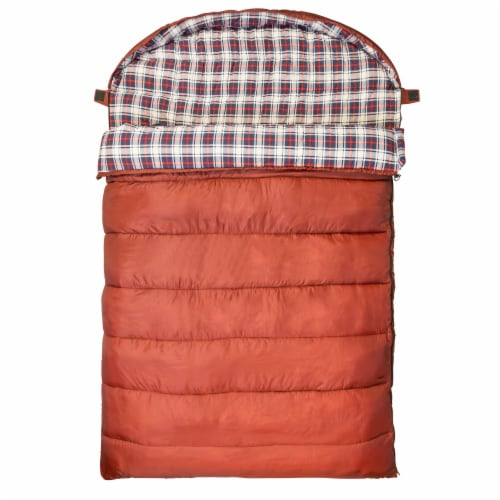 Kamp-Rite 60 x 78 Inch Cotton Double Wide Rectangular Sleeping Bag 20 Degree Perspective: back
