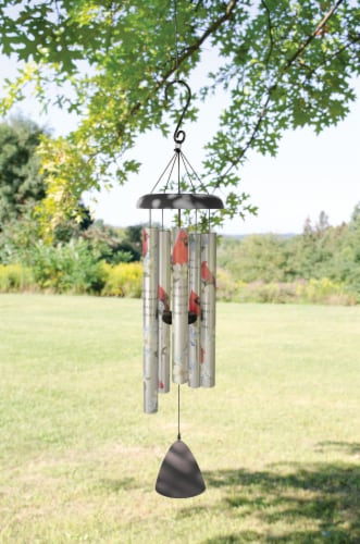 "38"" Cardinals Appear, Picturesque Sonnet Wind Chime Perspective: back"