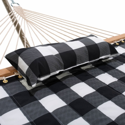 Castaway Hammock Quilted Check Print with Pillow Perspective: back
