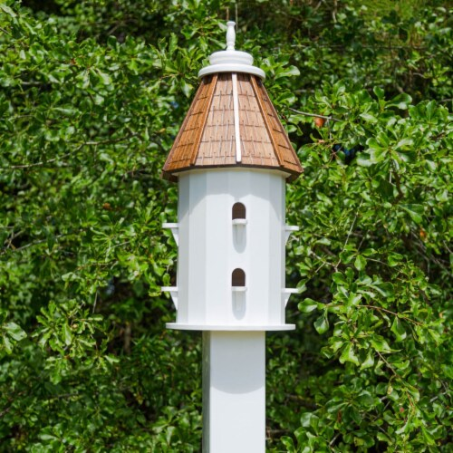 Castaway Two-Tiered Bird House Perspective: back