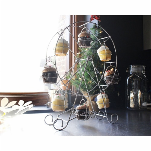 Ferris Wheel Cupcake Dessert Stand Carrier Holder for Birthday  Wedding Party Perspective: back