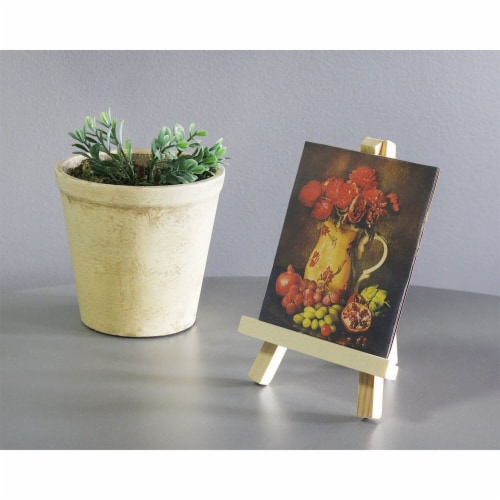 Juvale Wooden Mini Easel Stands for Desk or Tabletop (7 Inches, 6-Pack) Perspective: back