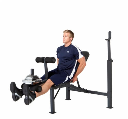Marcy Competitor Olympic Multipurpose Home Gym Workout Fitness Weight Bench Perspective: back