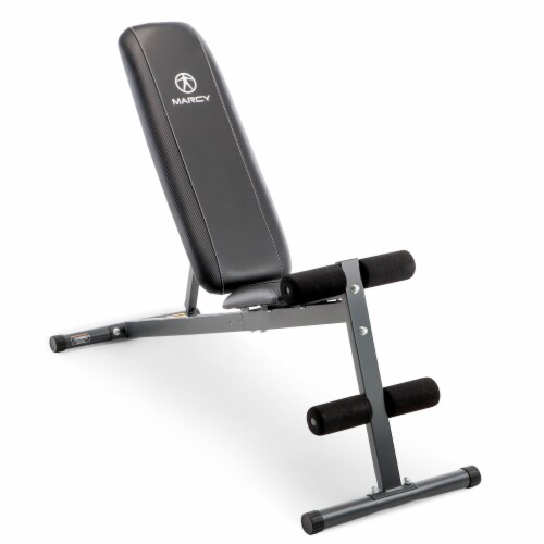 Marcy Pro Adjustable Home Gym Utility Exercise Weight Training Workout Bench Perspective: back