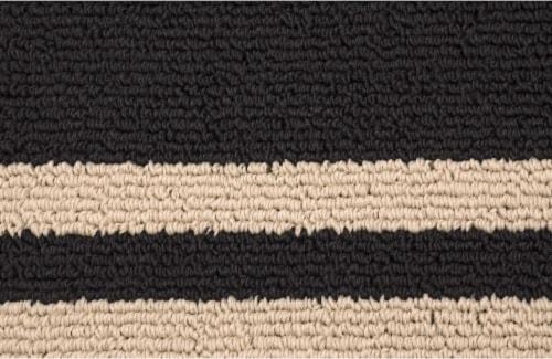 Garland Borderline Floor Runner - Black Perspective: back