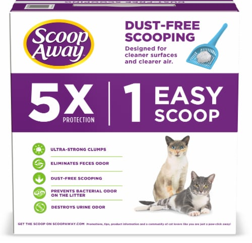 Scoop Away Super Clump Scented Clumping Cat Litter Perspective: back