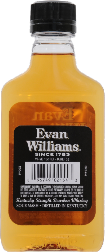 Evan Williams Whiskey Perspective: back