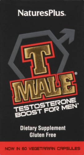 Nature's Plus T-Male Testosterone Boost 60 Count Perspective: back