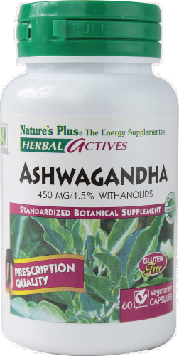 Nature's Plus Ashwagandha 450mg Perspective: back