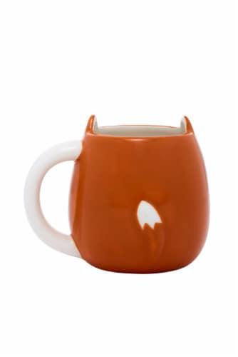 PMI Worldwide Dog Shaped Mug - White/Orange Perspective: back