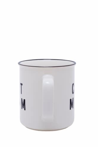 PMI Worldwide Cat Mom Camper Mug - White/Black Perspective: back
