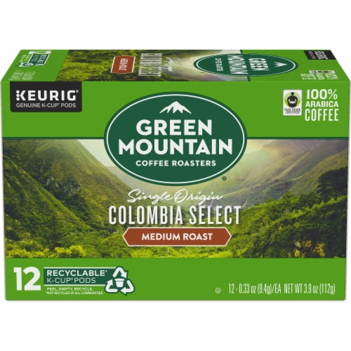 Green Mountain Coffee Colombia Select Medium Roast K-Cup Pods Perspective: back