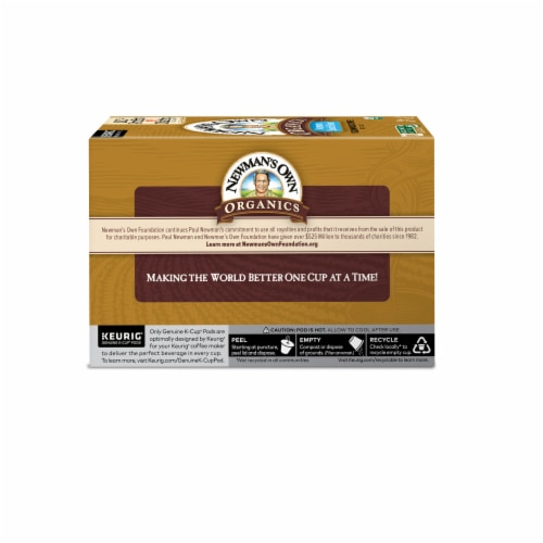 Newman's Own Organics Medium Roast Special Blend Coffee K-Cup Pods Perspective: back