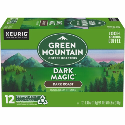Green Mountain Coffee Dark Magic Dark Roast Coffee K-Cup Pods Perspective: back