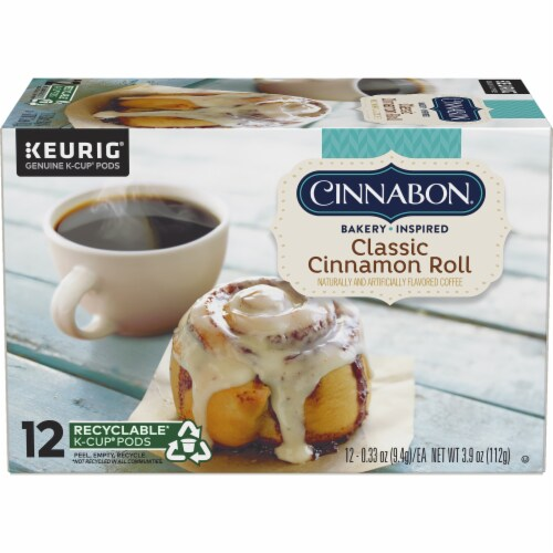 Cinnabon Classic Cinnamon Roll Light Roast K-Cup Pods Perspective: back