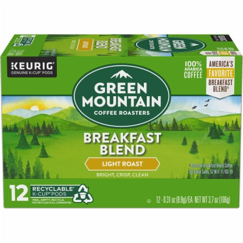 Green Mountain Coffee Roasters Breakfast Blend Light Roast K-Cup Pods Perspective: back