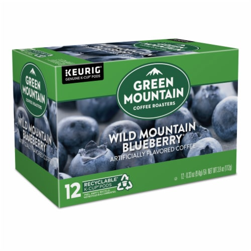 Green Mountain Coffee Wild Mountain Blueberry Flavored Coffee K-Cup Pods Perspective: back
