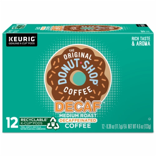 The Original Donut Shop Decaf Medium Roast Coffee K-Cup Pods Perspective: back