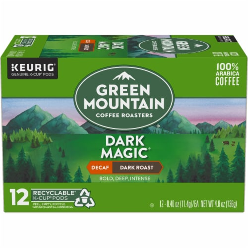 Green Mountain Coffee Roasters Decaf Dark Magic Dark Blend K-Cup Pods Perspective: back