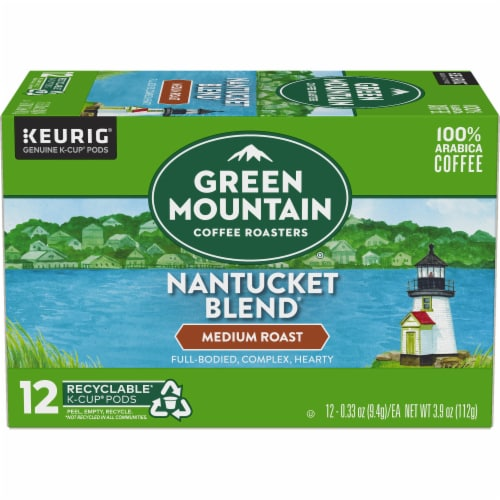 Green Mountain Nantucket Blend Medium Roast Coffee K-Cup Pods Perspective: back