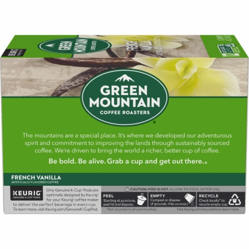 Green Mountain Coffee® French Vanilla K-Cup Pods Perspective: back