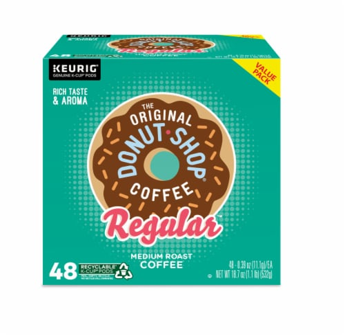The Original Donut Shop Regular Medium Roast Coffee K-Cup Pods Perspective: back