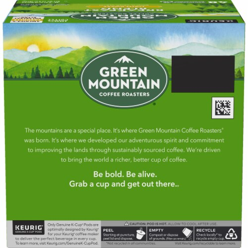 Green Mountain Coffee Roasters Light Roast Breakfast Blend Coffee K-Cup Pods Perspective: back